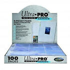 ULTRA PRO 9- POCKET TRADING CARD A4 SLEEVES SILVER SERIES PAGES 10 -  100 PAGES